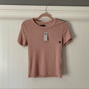 Abercrombie and Fitch top in blush pink. New!